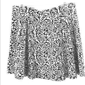 Black & white rose patterned skirt. Gently used.